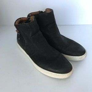 GENTLE SOULS Claire Black Leather Booties Sneakers